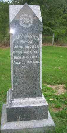 BROWER, MARY - Carroll County, Ohio | MARY BROWER - Ohio Gravestone Photos