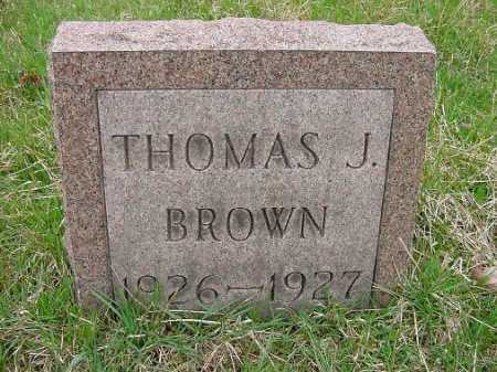 BROWN, THOMAS J. - Carroll County, Ohio | THOMAS J. BROWN - Ohio Gravestone Photos