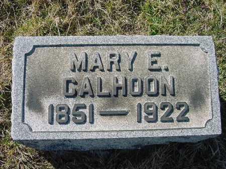 CALHOON, MARY E. - Carroll County, Ohio | MARY E. CALHOON - Ohio Gravestone Photos