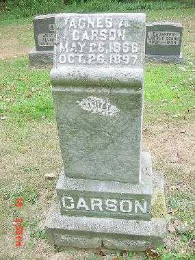 CARSON, AGNES A. MONUMENT - Carroll County, Ohio | AGNES A. MONUMENT CARSON - Ohio Gravestone Photos