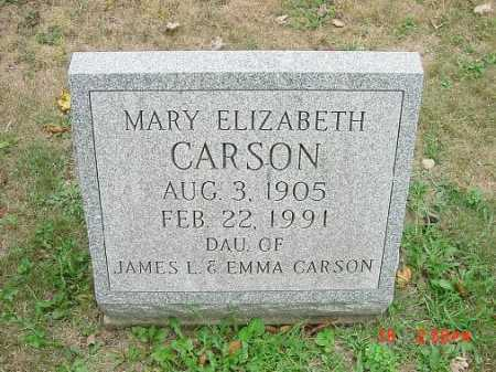 CARSON, MARY ELIZABETH - Carroll County, Ohio | MARY ELIZABETH CARSON - Ohio Gravestone Photos