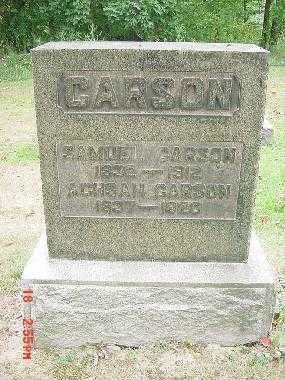 CARSON, ACHSAH - Carroll County, Ohio | ACHSAH CARSON - Ohio Gravestone Photos