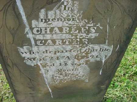 CARTER, CHARLES - CLOSE VIEW - Carroll County, Ohio | CHARLES - CLOSE VIEW CARTER - Ohio Gravestone Photos