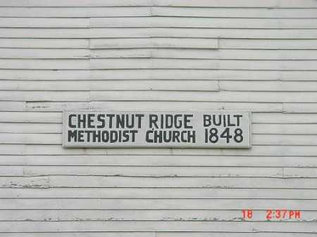 CHESTNUT RIDGE METTHODIST CHUR, SIGN - Carroll County, Ohio | SIGN CHESTNUT RIDGE METTHODIST CHUR - Ohio Gravestone Photos