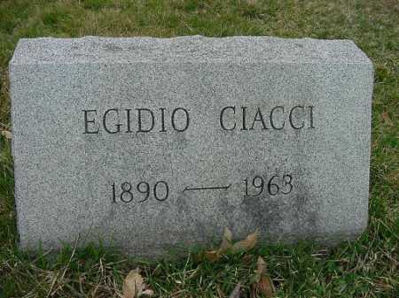 CIACCI, EGIDIO - Carroll County, Ohio | EGIDIO CIACCI - Ohio Gravestone Photos