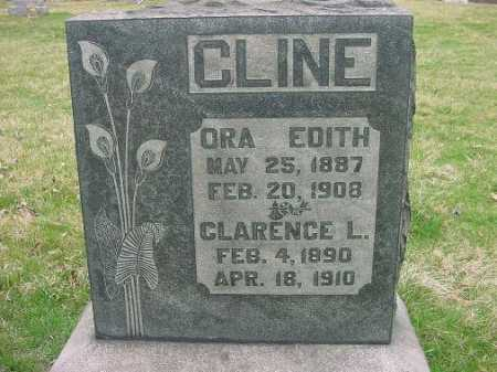 CLINE, ORA EDITH - Carroll County, Ohio | ORA EDITH CLINE - Ohio Gravestone Photos