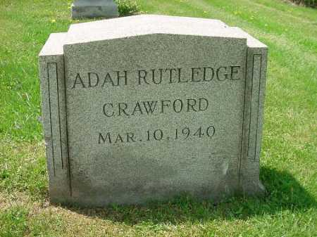 CRAWFORD, ADAH RUTHLEDGE - Carroll County, Ohio | ADAH RUTHLEDGE CRAWFORD - Ohio Gravestone Photos