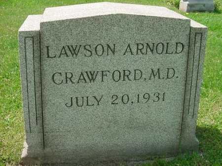 CRAWFORD, LAWSON ARNOLD, M.D. - Carroll County, Ohio | LAWSON ARNOLD, M.D. CRAWFORD - Ohio Gravestone Photos