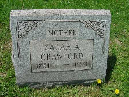 CRAWFORD, SARAH A. - Carroll County, Ohio | SARAH A. CRAWFORD - Ohio Gravestone Photos
