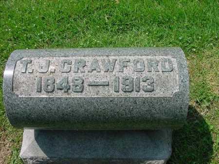 CRAWFORD, T.J. - Carroll County, Ohio | T.J. CRAWFORD - Ohio Gravestone Photos