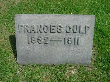 MANFULL CULP, FRANCES - Carroll County, Ohio | FRANCES MANFULL CULP - Ohio Gravestone Photos