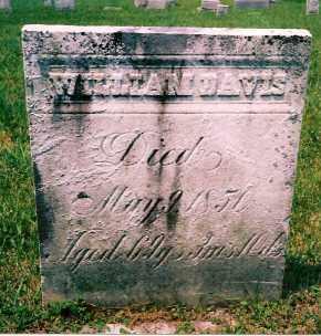 DAVIS, WILLIAM - Carroll County, Ohio   WILLIAM DAVIS - Ohio Gravestone Photos