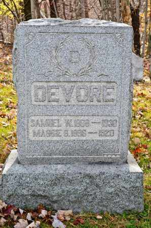 DEVORE, SAMUEL W. - Carroll County, Ohio | SAMUEL W. DEVORE - Ohio Gravestone Photos