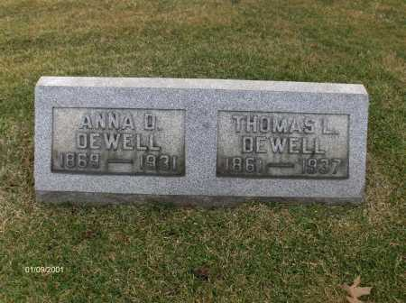 DEWELL, THOMAS - Carroll County, Ohio | THOMAS DEWELL - Ohio Gravestone Photos