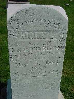 DUMBLETON, JOHN L. - Carroll County, Ohio | JOHN L. DUMBLETON - Ohio Gravestone Photos