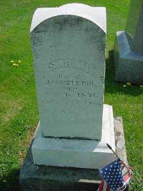 DUMBLETON, SARAH - Carroll County, Ohio | SARAH DUMBLETON - Ohio Gravestone Photos