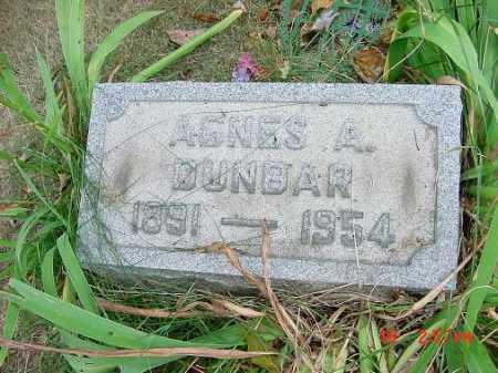 DUNBAR, AGNES A. - Carroll County, Ohio | AGNES A. DUNBAR - Ohio Gravestone Photos