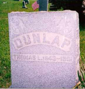 DUNLAP, THOMAS L. - Carroll County, Ohio | THOMAS L. DUNLAP - Ohio Gravestone Photos