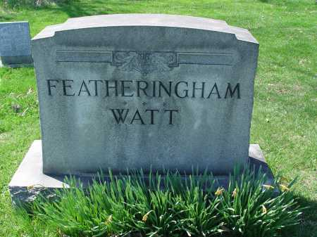 FEATHERINGHAM, WATT MONUMENT - Carroll County, Ohio | WATT MONUMENT FEATHERINGHAM - Ohio Gravestone Photos