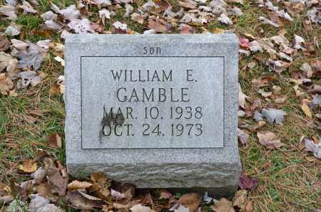 GAMBLE, WILLIAM E. - Carroll County, Ohio | WILLIAM E. GAMBLE - Ohio Gravestone Photos