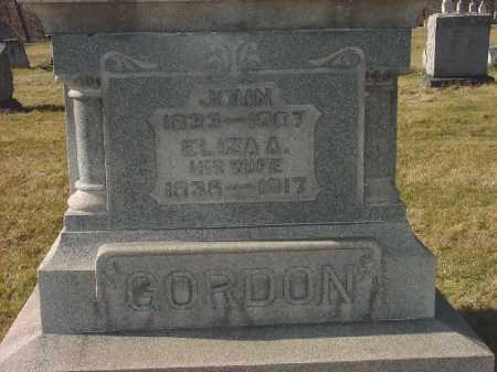 GORDON, JOHN - Carroll County, Ohio | JOHN GORDON - Ohio Gravestone Photos