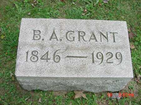 GRANT, BENGAMIN A. . - Carroll County, Ohio | BENGAMIN A. . GRANT - Ohio Gravestone Photos