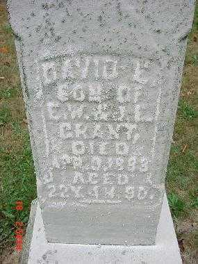 GRANT, DAVID E. - Carroll County, Ohio | DAVID E. GRANT - Ohio Gravestone Photos
