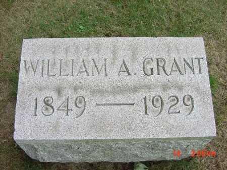 GRANT, WILLIAM A. - Carroll County, Ohio | WILLIAM A. GRANT - Ohio Gravestone Photos