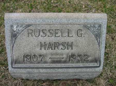 HARSH, RUSSELL G. - Carroll County, Ohio | RUSSELL G. HARSH - Ohio Gravestone Photos