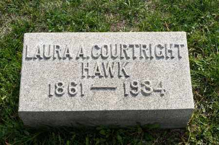 HAWK, LAURA A. - Carroll County, Ohio | LAURA A. HAWK - Ohio Gravestone Photos