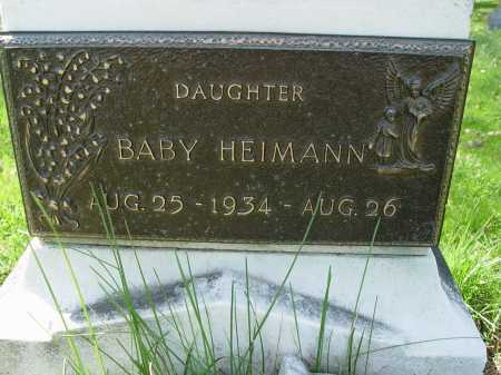 HEIMANN, BABY - Carroll County, Ohio | BABY HEIMANN - Ohio Gravestone Photos