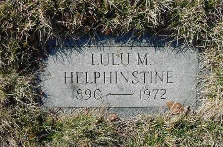 HELPHINSTINE, LULU M. - Carroll County, Ohio | LULU M. HELPHINSTINE - Ohio Gravestone Photos