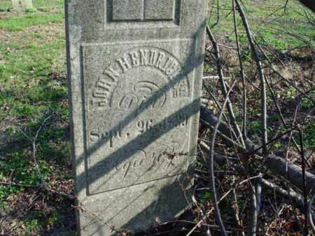 HENDERICKS, JOHN - Carroll County, Ohio | JOHN HENDERICKS - Ohio Gravestone Photos