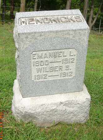 HENDRICKS, EMANUEL L - Carroll County, Ohio | EMANUEL L HENDRICKS - Ohio Gravestone Photos