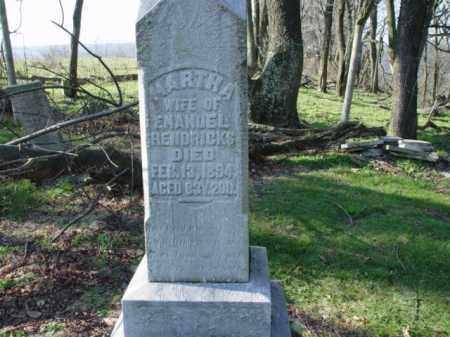 HENDRICKS, MARTHA - Carroll County, Ohio | MARTHA HENDRICKS - Ohio Gravestone Photos
