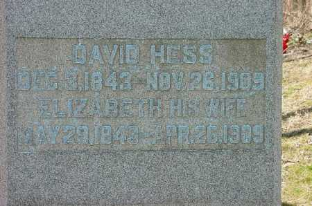 HESS, DAVID - Carroll County, Ohio | DAVID HESS - Ohio Gravestone Photos