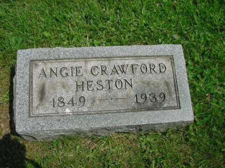 HESTON, ANGIE CRAWFORD - Carroll County, Ohio | ANGIE CRAWFORD HESTON - Ohio Gravestone Photos