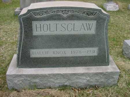 HOLTSCLAW, HALLIE KNOX - Carroll County, Ohio | HALLIE KNOX HOLTSCLAW - Ohio Gravestone Photos
