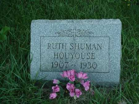 SHUMAN HOUYOUSE, RUTH - Carroll County, Ohio | RUTH SHUMAN HOUYOUSE - Ohio Gravestone Photos