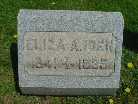 IDEN, ELIZA A. - Carroll County, Ohio | ELIZA A. IDEN - Ohio Gravestone Photos