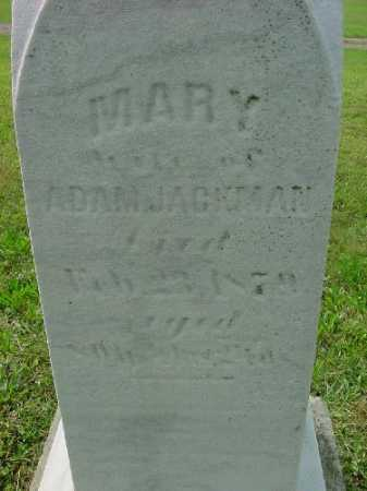JACKMAN, MARY - Carroll County, Ohio | MARY JACKMAN - Ohio Gravestone Photos
