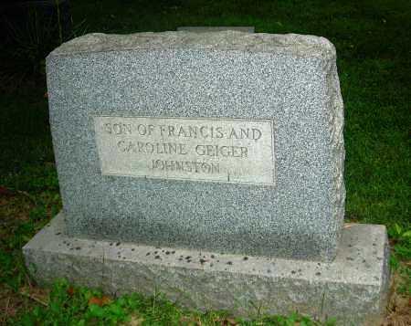 JOHNSTON, JOSEPH GEIGER - Carroll County, Ohio   JOSEPH GEIGER JOHNSTON - Ohio Gravestone Photos