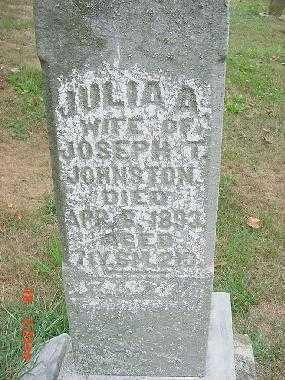JOHNSTON, JULIA A. - Carroll County, Ohio | JULIA A. JOHNSTON - Ohio Gravestone Photos