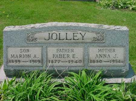 JOLLEY, FABER E. - Carroll County, Ohio | FABER E. JOLLEY - Ohio Gravestone Photos