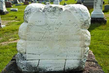 KARN, SARAH A. - Carroll County, Ohio | SARAH A. KARN - Ohio Gravestone Photos