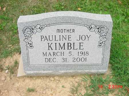 KIMBLE, PAULINE JOY - Carroll County, Ohio | PAULINE JOY KIMBLE - Ohio Gravestone Photos