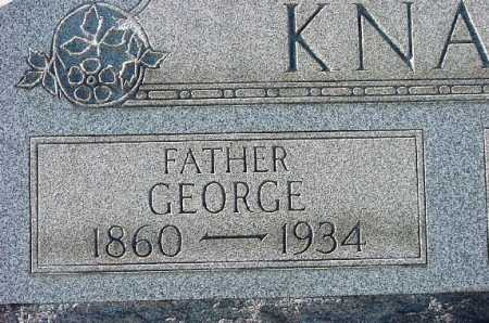 KNAPP, GEORGE - Carroll County, Ohio | GEORGE KNAPP - Ohio Gravestone Photos