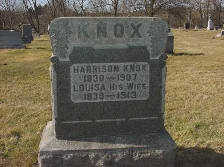 KNOX, HARRISON - Carroll County, Ohio | HARRISON KNOX - Ohio Gravestone Photos
