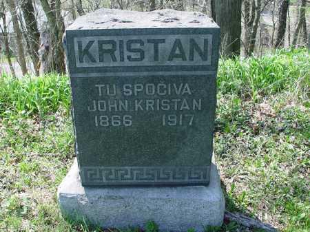 KRISTAN, JOHN - Carroll County, Ohio | JOHN KRISTAN - Ohio Gravestone Photos