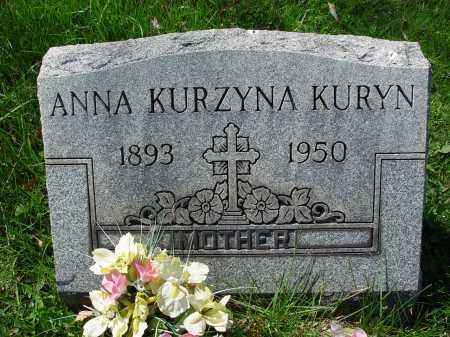 KARABAN KURZYNA KURYN, ANNA - Carroll County, Ohio | ANNA KARABAN KURZYNA KURYN - Ohio Gravestone Photos